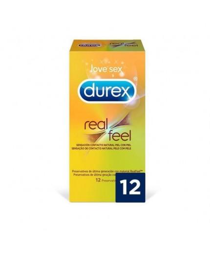 DUREX PRESERVATIVO REAL FEEL SIN LATEX 12 UDS