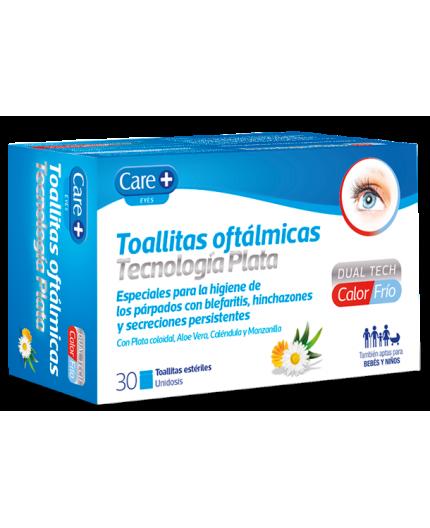 CARE+ TOALLITAS OFTALMICAS TECNOLOGIA PLATA 30 UDS