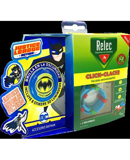 RELEC PULSERA ANTIMOSQUITOS INFANTIL CLICK-CLACK BATMAN