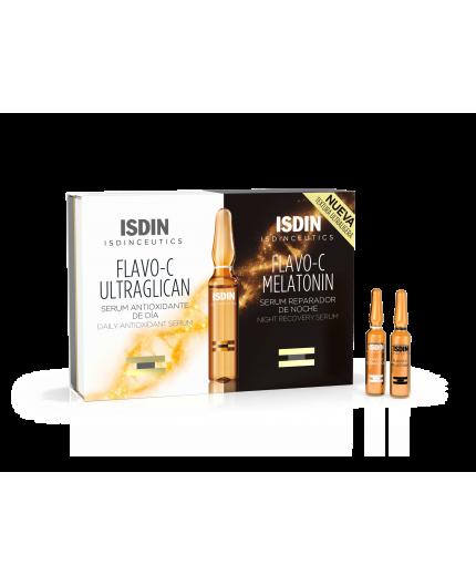 ISDINCEUTICS FLAVO-C MELATONIN & ULTRAGLICAN 10 + 10