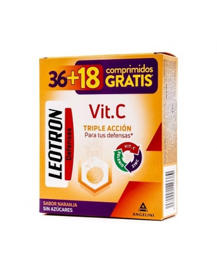 LEOTRON VITAMINA C FORMATO AHORRO 36+18 COMPRIMIDOS EFERVESCENTES