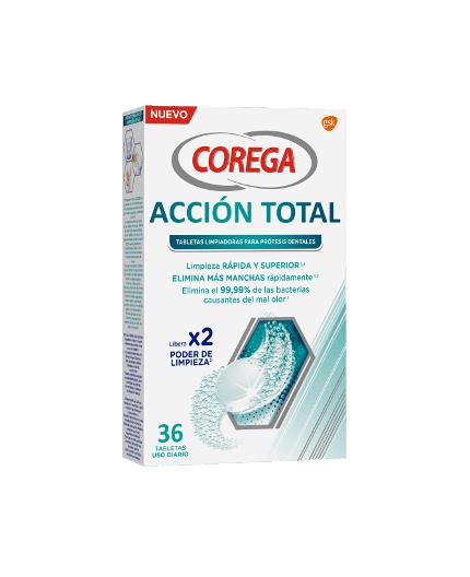 COREGA TABLETAS LIMPIADORAS ACCIÓN TOTAL 36 UDS