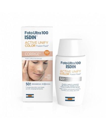 ISDIN FOTO ULTRA 100 ACTIVE UNIFY COLOR FUSION FLUID SPF 50+